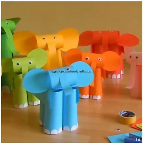 elephant paper craft elephant craft paper craft preschool crafts