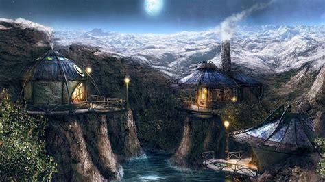 mountain cottages mountain cottages wallpaper 421468