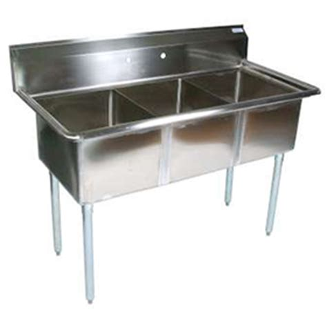 industrial kitchen sinks bk bks 3 1620 12 three compartment sink commercial
