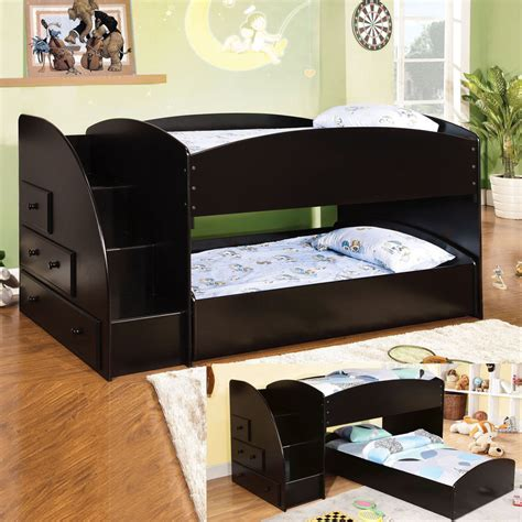low profile bunk beds youth wood black low profile loft bunk bed