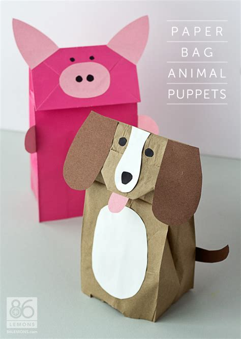 paper bag craft ideas for rainy day roundup 10 crafts puppet craft and bag