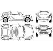 Auto Smart Roadster Coupe  Bild Zeigt Abbildung