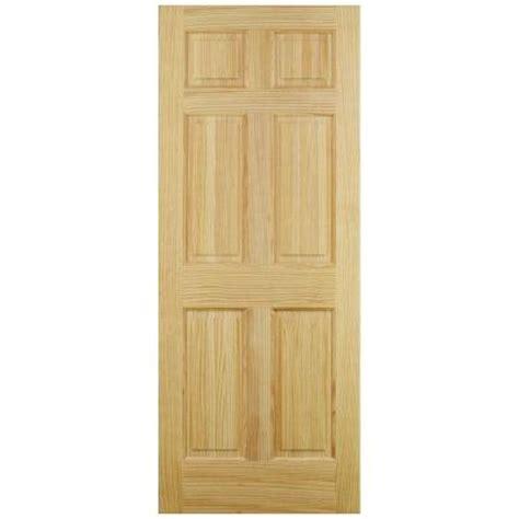 home depot interior slab doors jeld wen 6 panel pine interior door slab thdjw101200242