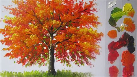 paint tree how to paint a tree in acrylics lesson 4
