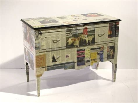 decoupage with newspaper 170 newspaper decoupage chest lot 170