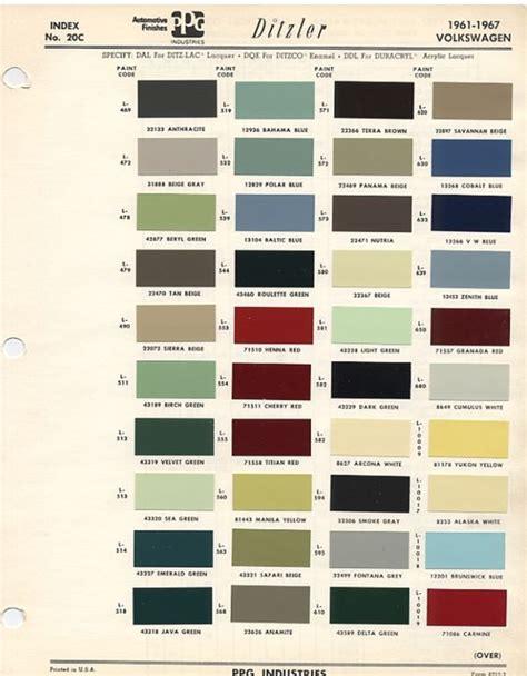 original paint colors vw original vw beetle paint schemes coccinelles vw