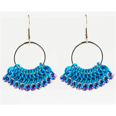 jewelry daily free projects beaded fan earrings project blue buddha boutique