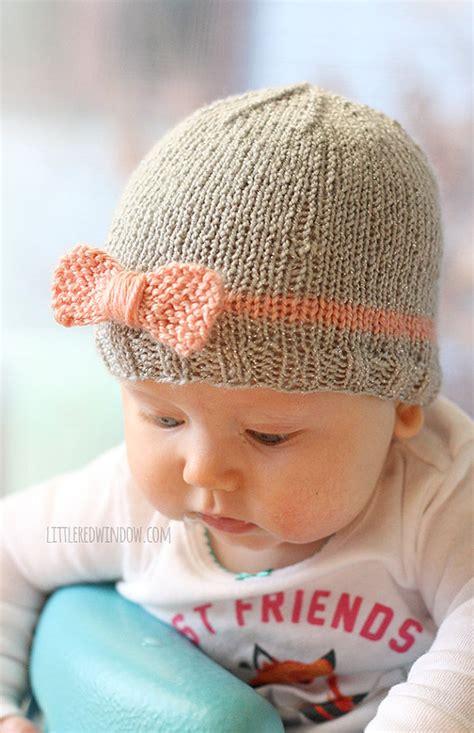 newborn knit hats knit bow baby hat knitting pattern knit hat pattern for