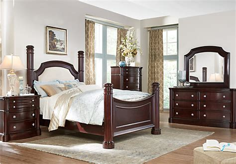 rooms to go furniture bedroom dumont 5 pc king low poster bedroom bedroom sets