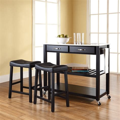 kitchen island cart with stools kitchen island cart with stools