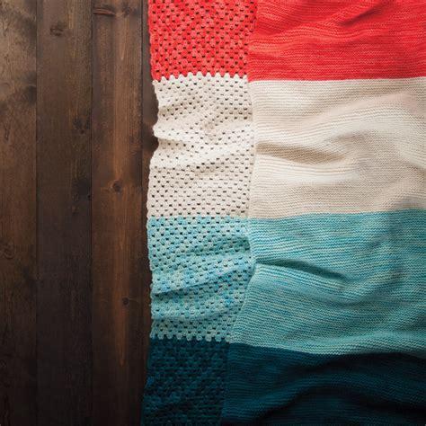 knitting blankets for beginners the beginner blanket two ways knit crochet knitpicks
