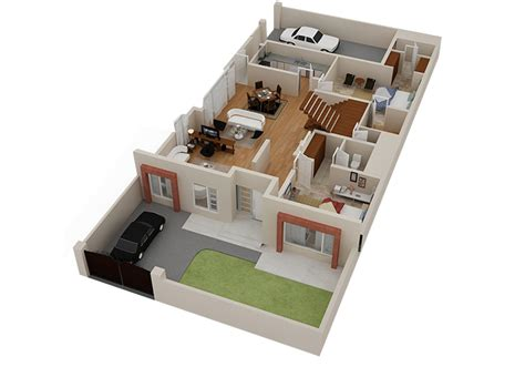 House Plan 3d 2d amp 3d house floorplans architectural home plans netgains
