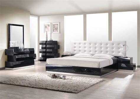 modern king bed sets contemporary style bedroom set with white leatherette