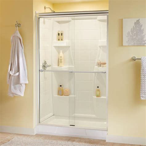 delta glass shower doors delta silverton 48 in x 70 in semi frameless sliding