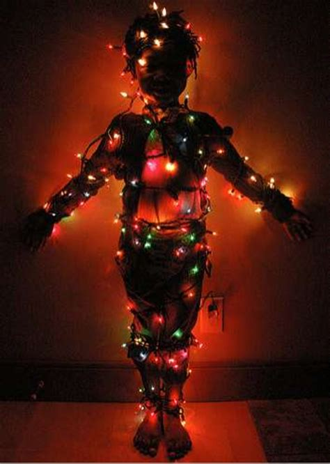 wearing lights wrapping yourself in lights diy strand greeting