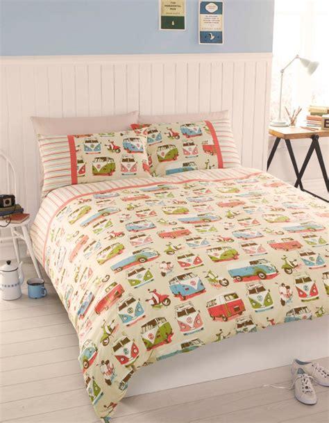 vintage bedding sets uk vintage retro vw cervan bedding single or