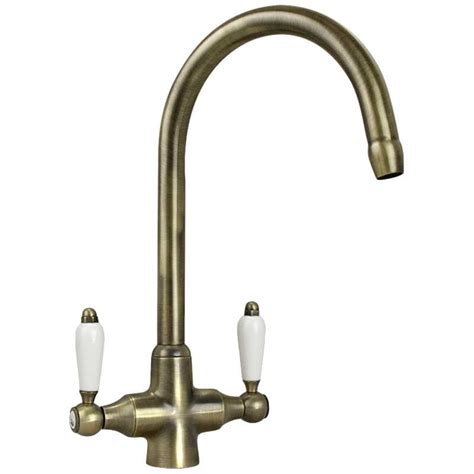 taps for kitchen sinks uk colonial antique bronze white ceramic handle
