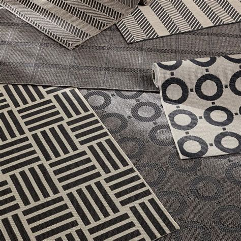 crate and barrel indoor outdoor rugs create drama with black carpets and rugs