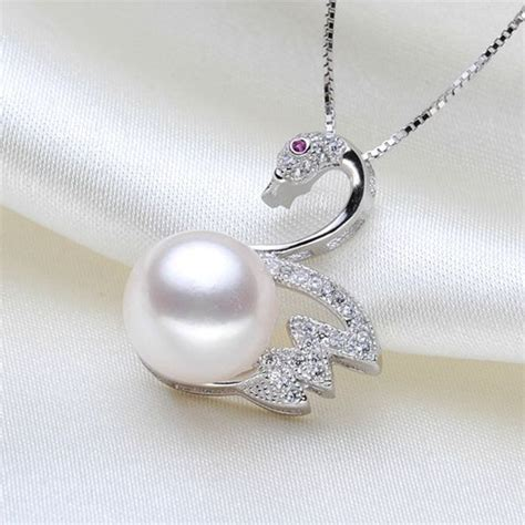 pearl pendants for jewelry swan pearl pendant single pearl pendant necklace