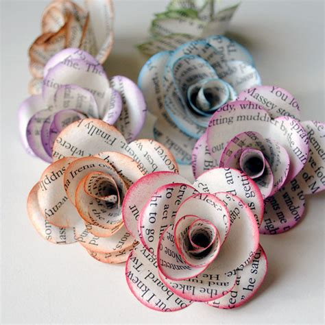 paper roses craft 35 unique diy project ideas to repurpose books