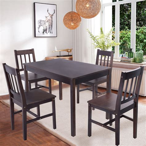 kitchen dining table and chairs solid wooden pine dining table and 4 chairs set kitchen