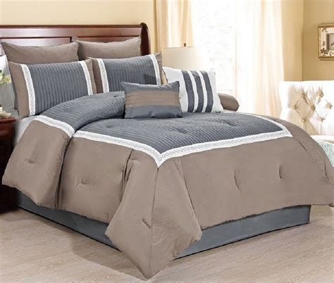 king size bedding in a bag sets new luxurious 8 quilted comforter set king size