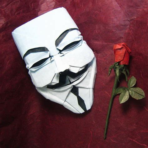 best origami creations fawkes mask in origami