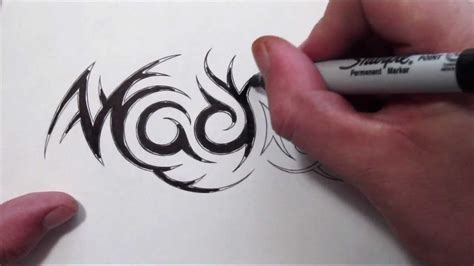 custom hidden tribal name tattoo design madison youtube