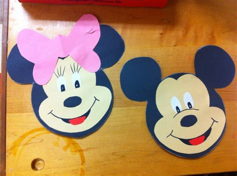 mickey mouse craft projects letter m craft minnie mickey mouse let it out