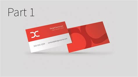 how to make a business card on illustrator modern business card design in illustrator cc part 1