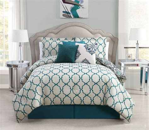 teal comforters sets 7 vidara teal gray reversible comforter set