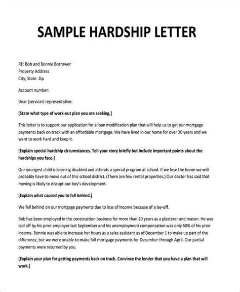 Modification Letter by Free Sle Hardship Letter For Loan Modification The