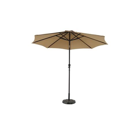 crank and tilt patio umbrella hton bay 9 ft steel crank and tilt patio umbrella in