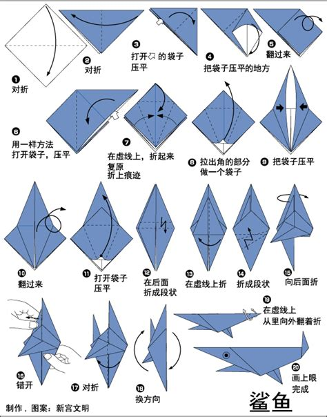 how to make a origami shark origami shark