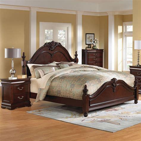 standard furniture westchester 3 poster bedroom set