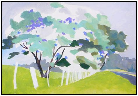 acrylic painting demonstration jacaranda trees acrylic painting demonstration