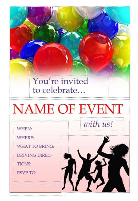 free printable flyers printable invitation flyers free flyers