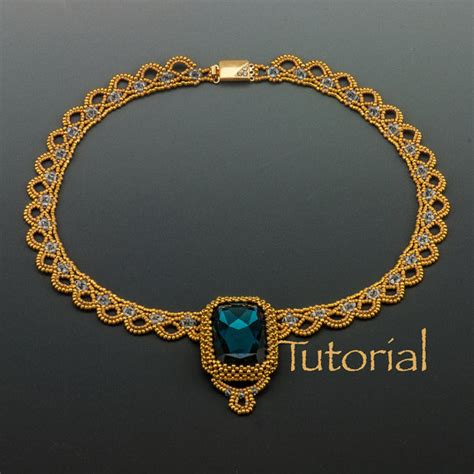beaded jewelry tutorials beaded necklace tutorial sparkling lace collar by jewelrytales