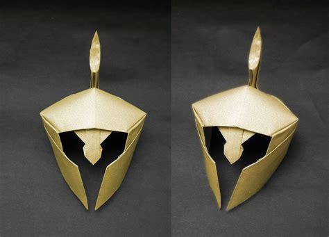 origami armor origami helmet kurth tutorial