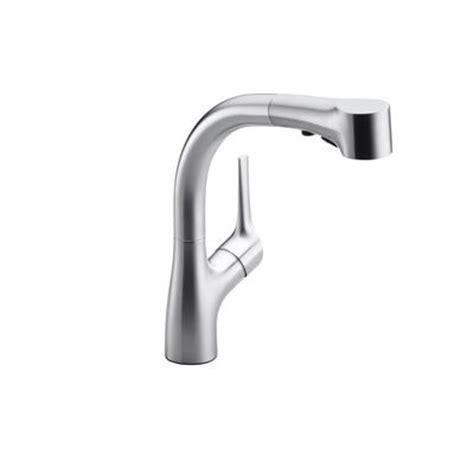 kohler elate kitchen faucet kohler elate tm pullout kitchen faucet in vibrant