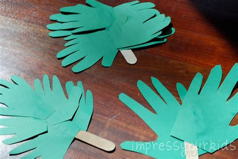 palm sunday crafts for handprint palm branches for palm sunday family crafts