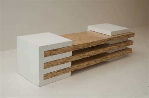 contemporary woodworking contemporary bench in concrete and wood combination