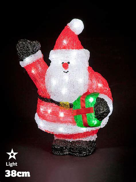 acrylic decorations led acrylic figures decorations light up santa