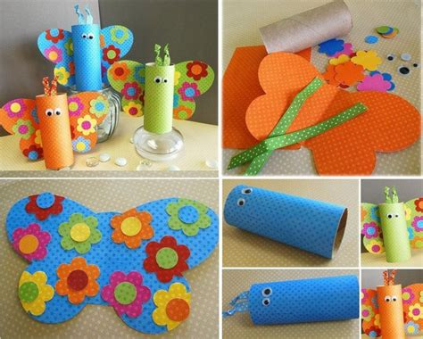 toilet paper roll butterfly craft diy toilet roll butterfly crafts for