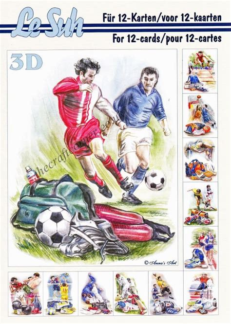le suh decoupage sports a5 3d decoupage book from le suh