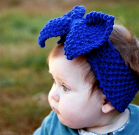 how to knit baby headbands patterns baby knit headband with big bow knitted