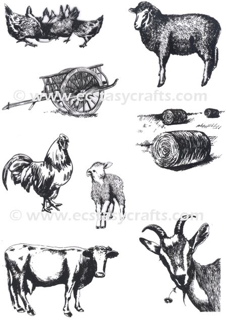 farm animal rubber sts cows rubber sts 123stitch