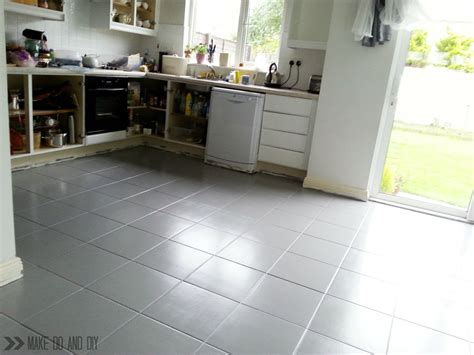painted kitchen floors painted tile floor no really make do and diy