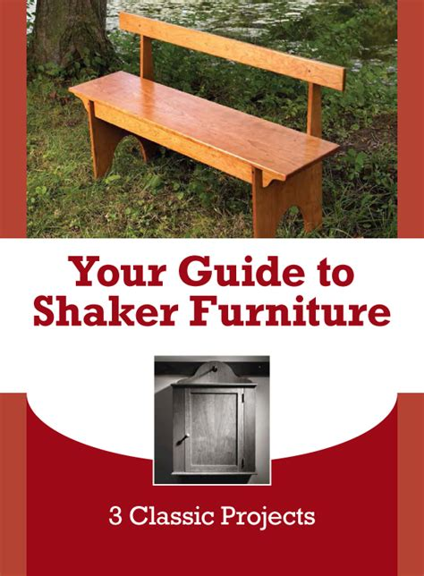 free furniture plans woodworking shaker furniture plans don t get any better than this