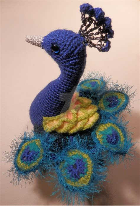 peacock knitting pattern blue peacock amigurumi by atinap on deviantart